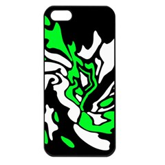 Green, white and black decor Apple iPhone 5 Seamless Case (Black)