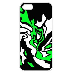 Green, white and black decor Apple iPhone 5 Seamless Case (White)