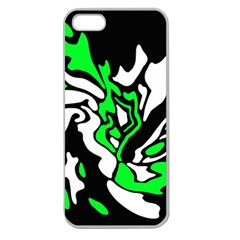 Green, white and black decor Apple Seamless iPhone 5 Case (Clear)