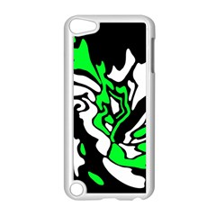 Green, white and black decor Apple iPod Touch 5 Case (White)