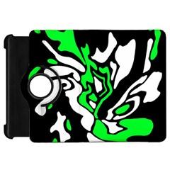 Green, white and black decor Kindle Fire HD Flip 360 Case