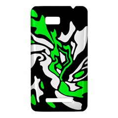 Green, white and black decor HTC One SU T528W Hardshell Case