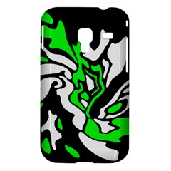 Green, white and black decor Samsung Galaxy Ace Plus S7500 Hardshell Case