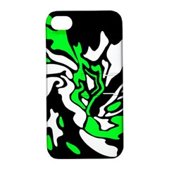 Green, white and black decor Apple iPhone 4/4S Hardshell Case with Stand