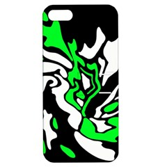 Green, white and black decor Apple iPhone 5 Hardshell Case with Stand