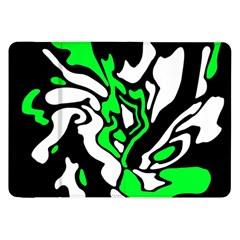 Green, white and black decor Samsung Galaxy Tab 8.9  P7300 Flip Case