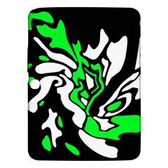 Green, white and black decor Samsung Galaxy Tab 3 (10.1 ) P5200 Hardshell Case