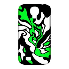 Green, white and black decor Samsung Galaxy S4 Classic Hardshell Case (PC+Silicone)