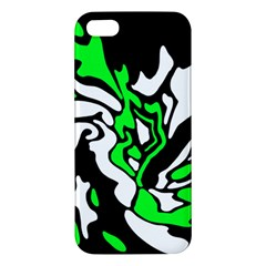 Green, white and black decor iPhone 5S/ SE Premium Hardshell Case