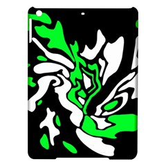 Green, white and black decor iPad Air Hardshell Cases