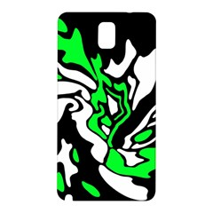Green, white and black decor Samsung Galaxy Note 3 N9005 Hardshell Back Case