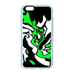 Green, white and black decor Apple Seamless iPhone 6/6S Case (Color)