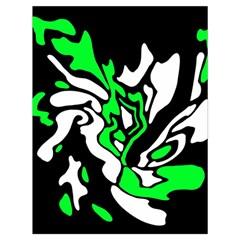 Green, white and black decor Drawstring Bag (Large)