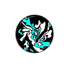 Cyan, black and white decor Hat Clip Ball Marker (10 pack)