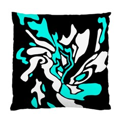 Cyan, black and white decor Standard Cushion Case (Two Sides)