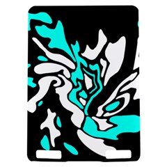 Cyan, black and white decor Kindle Touch 3G