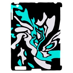 Cyan, black and white decor Apple iPad 2 Hardshell Case (Compatible with Smart Cover)