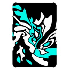 Cyan, black and white decor Samsung Galaxy Tab 10.1  P7500 Hardshell Case