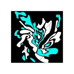 Cyan, black and white decor Acrylic Tangram Puzzle (4  x 4 )