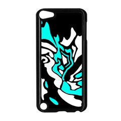 Cyan, black and white decor Apple iPod Touch 5 Case (Black)