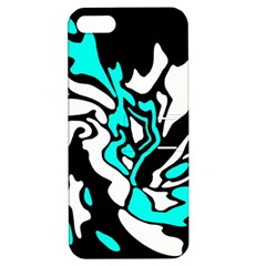 Cyan, black and white decor Apple iPhone 5 Hardshell Case with Stand