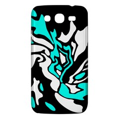 Cyan, black and white decor Samsung Galaxy Mega 5.8 I9152 Hardshell Case