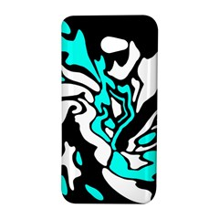 Cyan, black and white decor HTC Butterfly S/HTC 9060 Hardshell Case