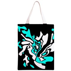Cyan, black and white decor Classic Light Tote Bag
