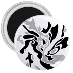 Gray, black and white decor 3  Magnets