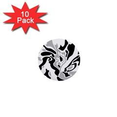 Gray, black and white decor 1  Mini Buttons (10 pack)