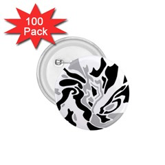Gray, black and white decor 1.75  Buttons (100 pack)
