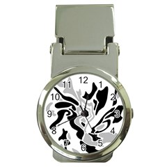 Gray, black and white decor Money Clip Watches