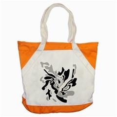 Gray, black and white decor Accent Tote Bag