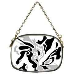 Gray, black and white decor Chain Purses (One Side)