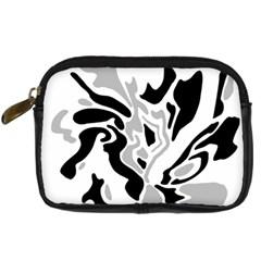 Gray, black and white decor Digital Camera Cases