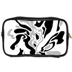 Gray, black and white decor Toiletries Bags 2-Side