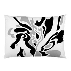 Gray, Black And White Decor Pillow Case (two Sides)