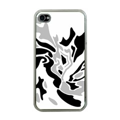 Gray, black and white decor Apple iPhone 4 Case (Clear)