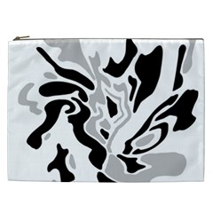 Gray, black and white decor Cosmetic Bag (XXL)