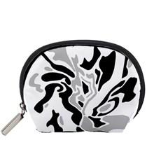 Gray, black and white decor Accessory Pouches (Small)