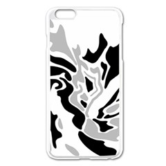 Gray, black and white decor Apple iPhone 6 Plus/6S Plus Enamel White Case
