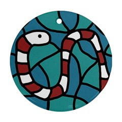 Red snake Ornament (Round)