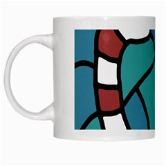 Red snake White Mugs
