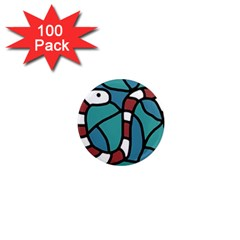 Red snake 1  Mini Magnets (100 pack)