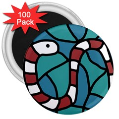 Red snake 3  Magnets (100 pack)