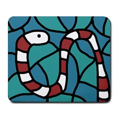 Red snake Large Mousepads