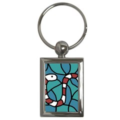 Red snake Key Chains (Rectangle)