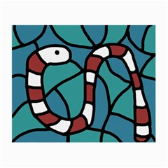 Red snake Small Glasses Cloth