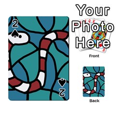 Red snake Playing Cards 54 Designs