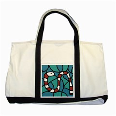 Red snake Two Tone Tote Bag